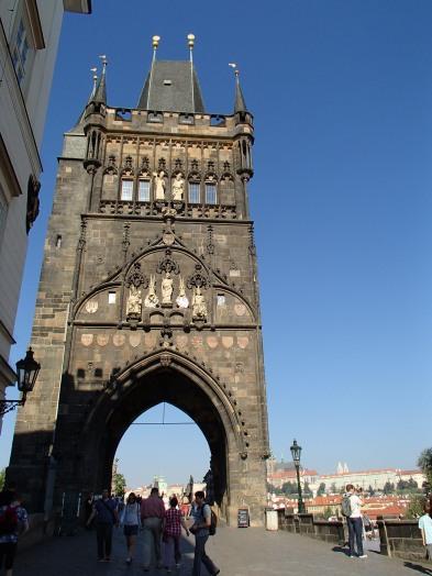 tour gothique, pont Charles