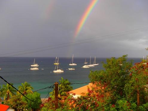 Vue de notre location Grande Anse
