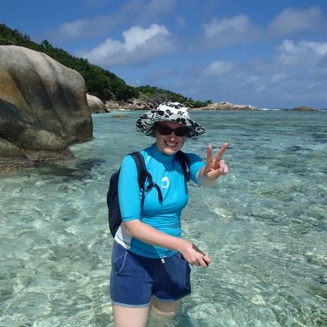 Anse source d'argent après une longue randonnée, Seychelles @pink.turtle.blog