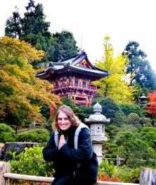 Japanese tea garden (Pink turtle)
