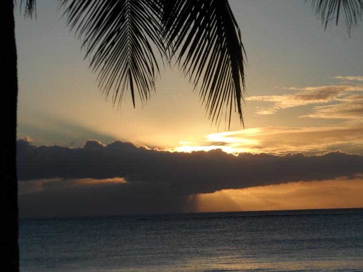 coucher de soleil, Mont Choisy