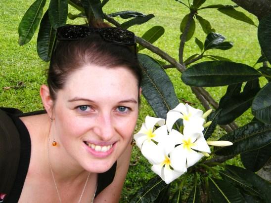 @pink.turtle.blog/ fleur de frangipanier (Hawaii)