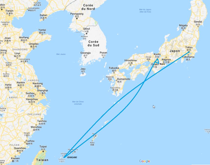 Japon/ itinéraire