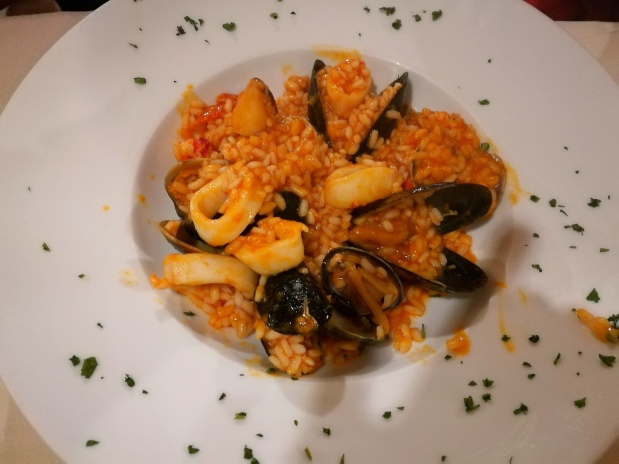 @pink.turtle.blog/ risotto aux fruits de mer
