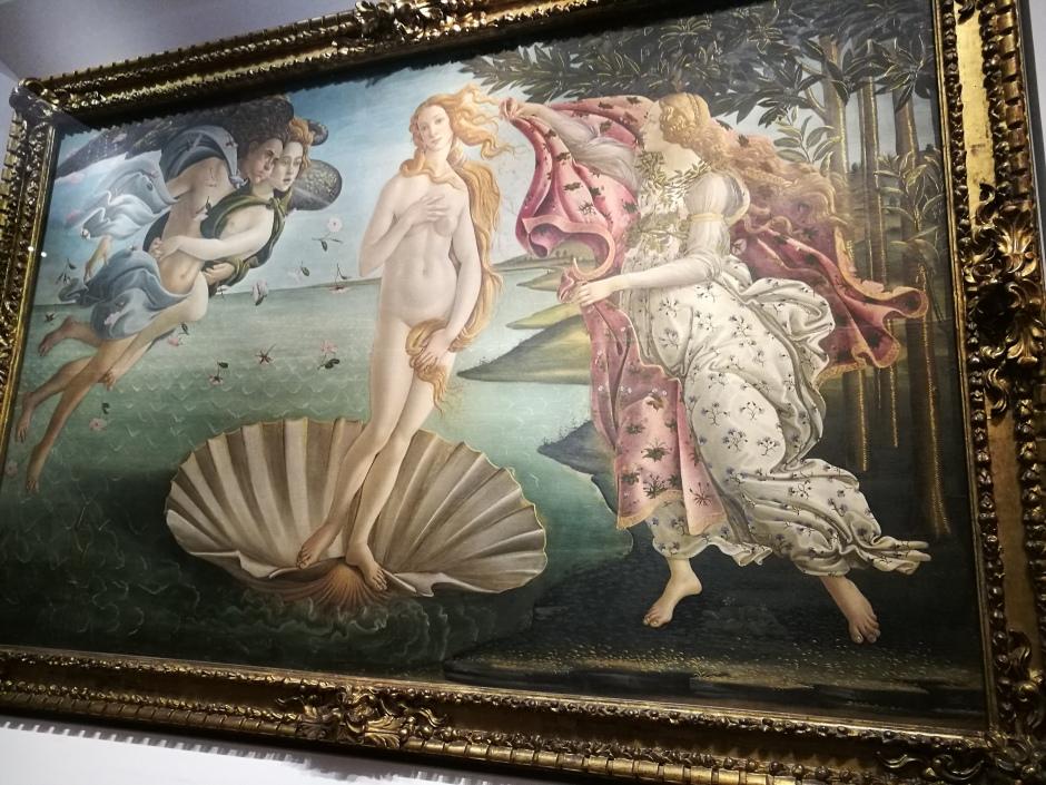 La Naissance de Vénus de Botticelli/ @pink.turtle.blog