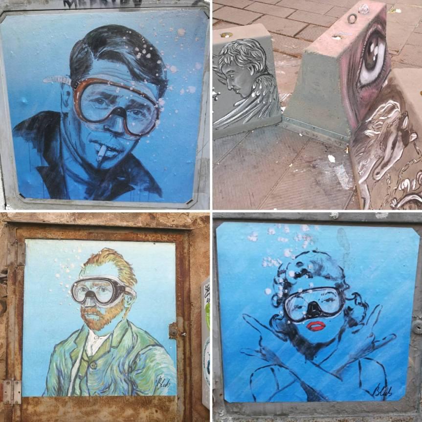 Street-art de Blub entre autres, Pise/ @pink.turtle.blog