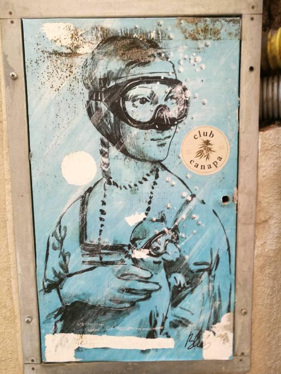 Blub, street-art, Lucca/ @pink.turtle.blog