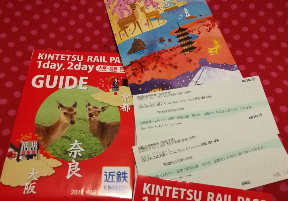 Kintetsu rail pass one day/ @pink.turtle.blog