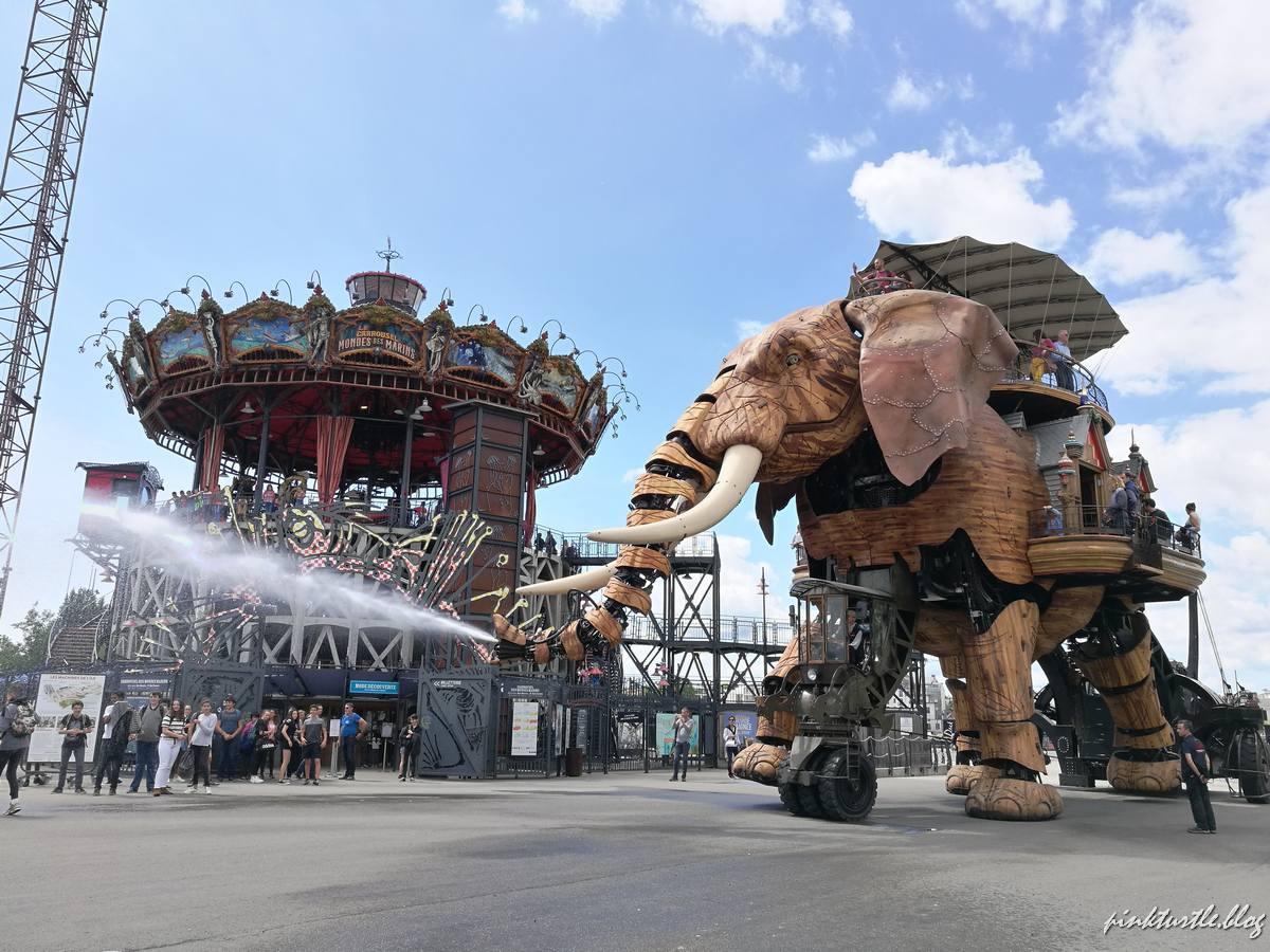 L'éléphant, île de Nantes @pink.turtle.blog