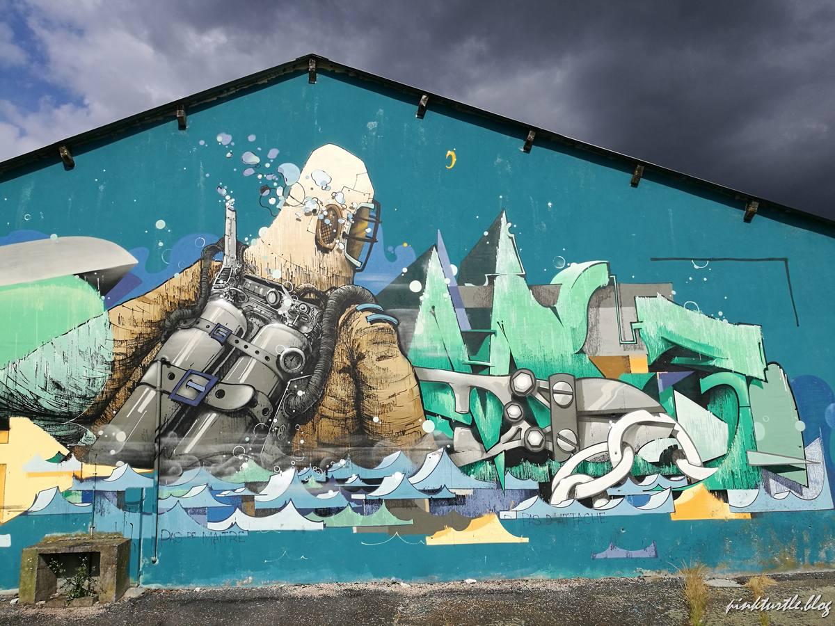 Street-art, île de Nantes @pink.turtle.blog