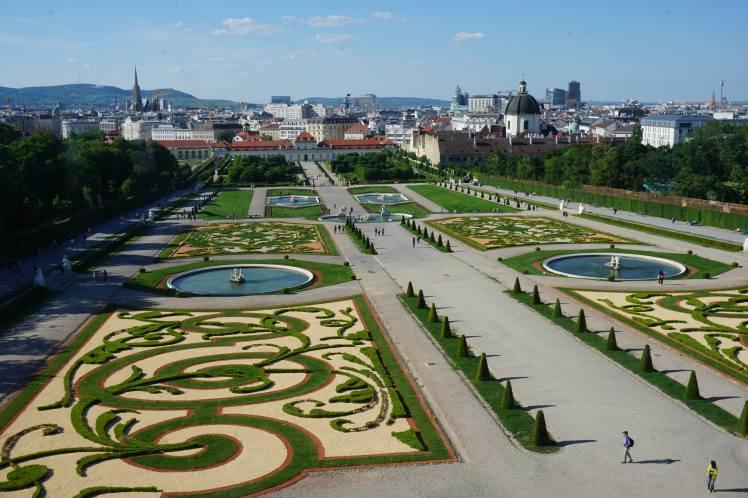 Les jardins du Belvédère, Vienne @pink.turtle.blog