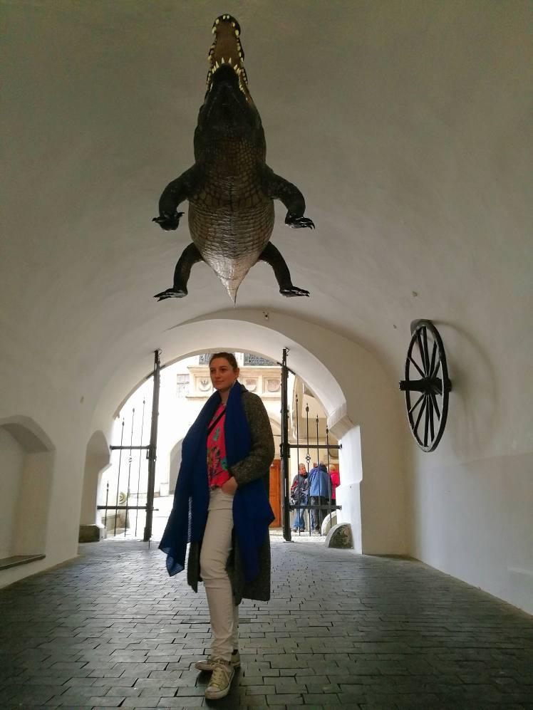 Old town hall et son crocodile, Brno @pink.turtle.blog
