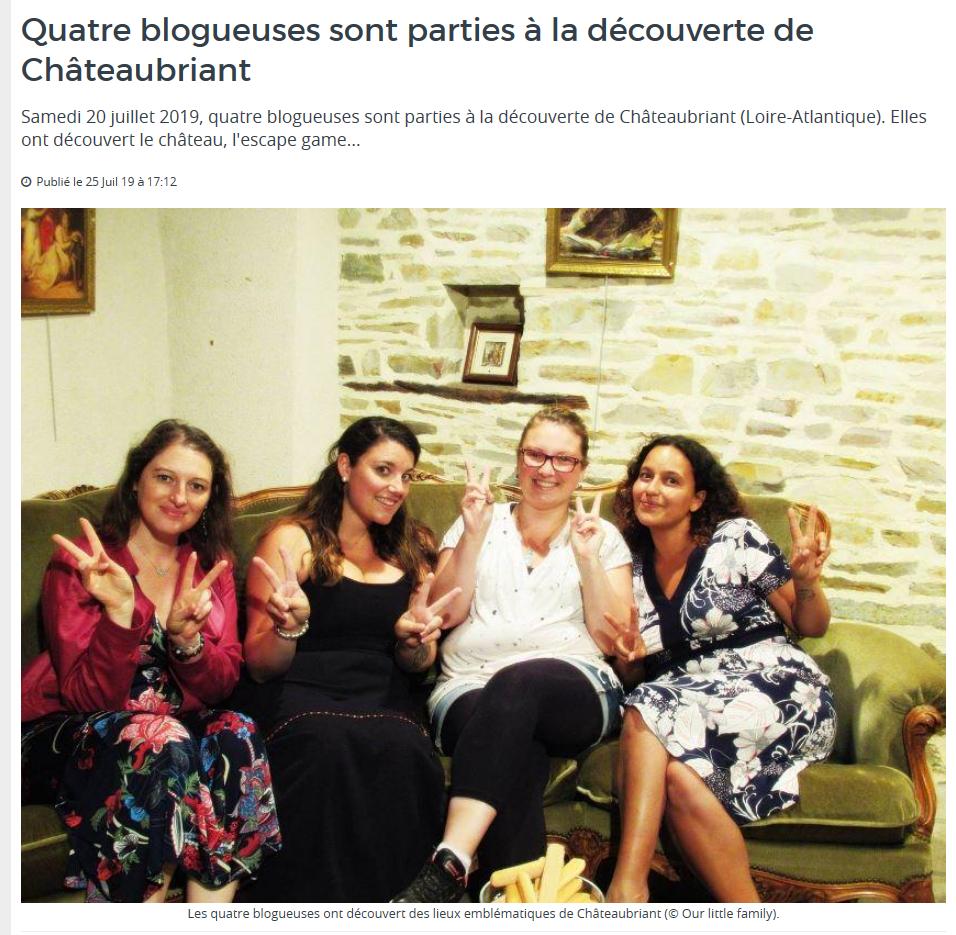 L'Eclaireur de Châteaubriant, article du 25/07/19 @pink.turtle.blog