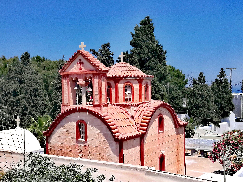 Église abandonnée, Fira @pinkturtle.blog