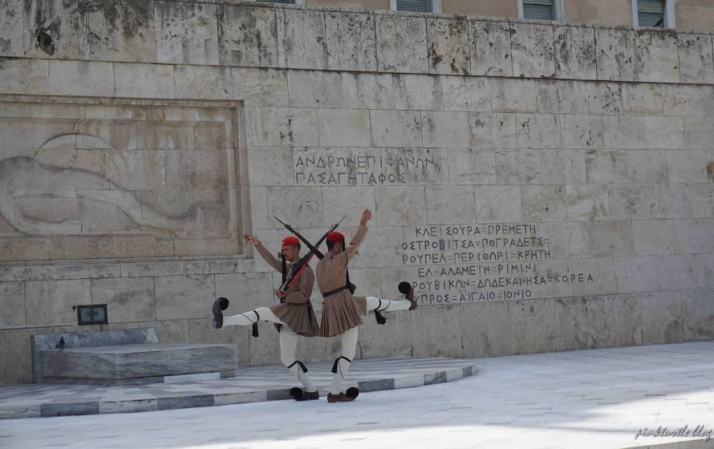 La relève de la garde, Athènes @pink.turtle.blog