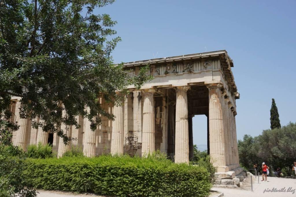 Temple d'Héphaïstos, Athènes @pink.turtle.blog