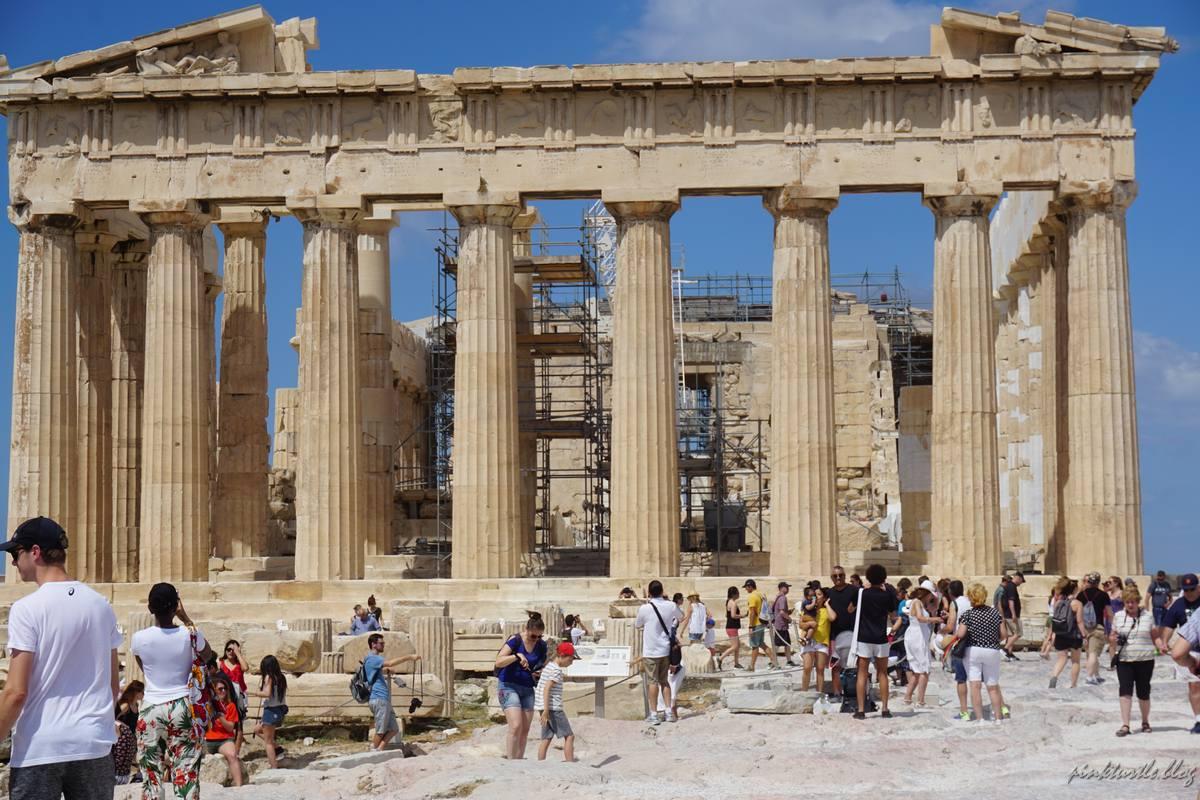 Le Parthénon, Athènes @pink.turtle.blog