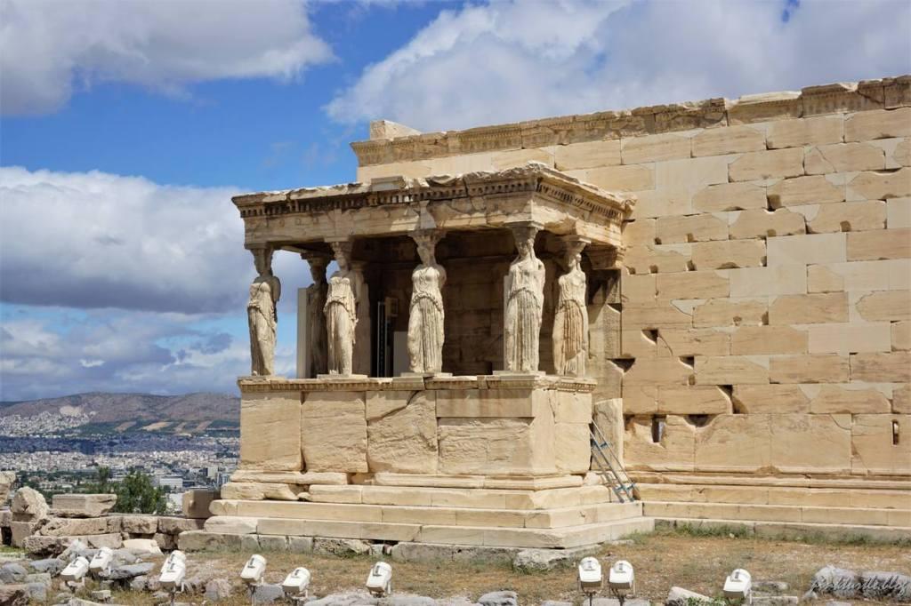 L'Erechtéion, Acropole d'Athènes @pink.turtle.blog