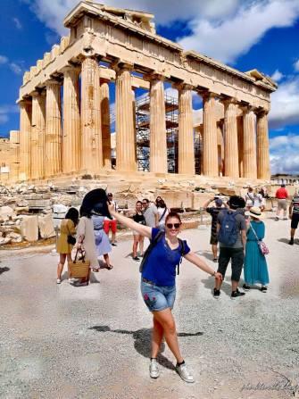 Le Parthénon, Acropole d'Athènes @pink.turtle.blog