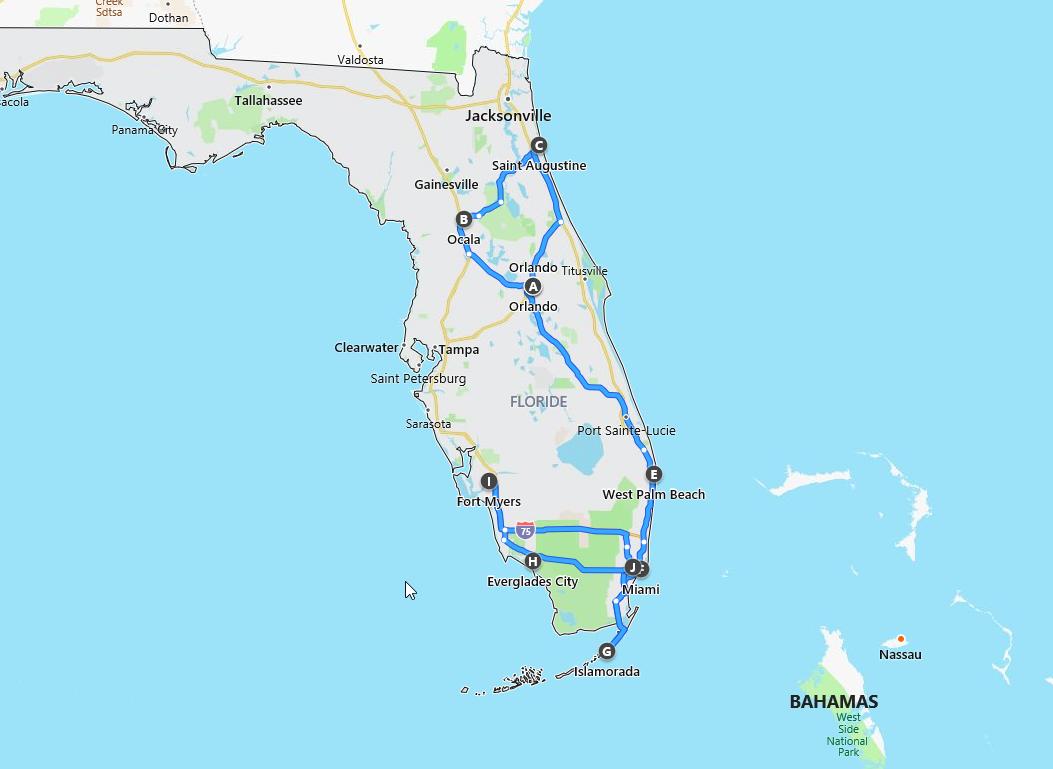 Floride : notre itinéraire @pink.turtle.blog