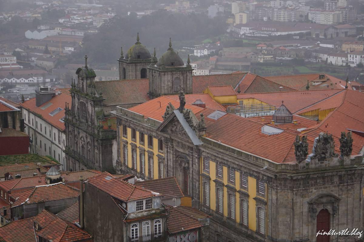 Vue depuis la tour des Clercs, Porto @pink.turtle.blog