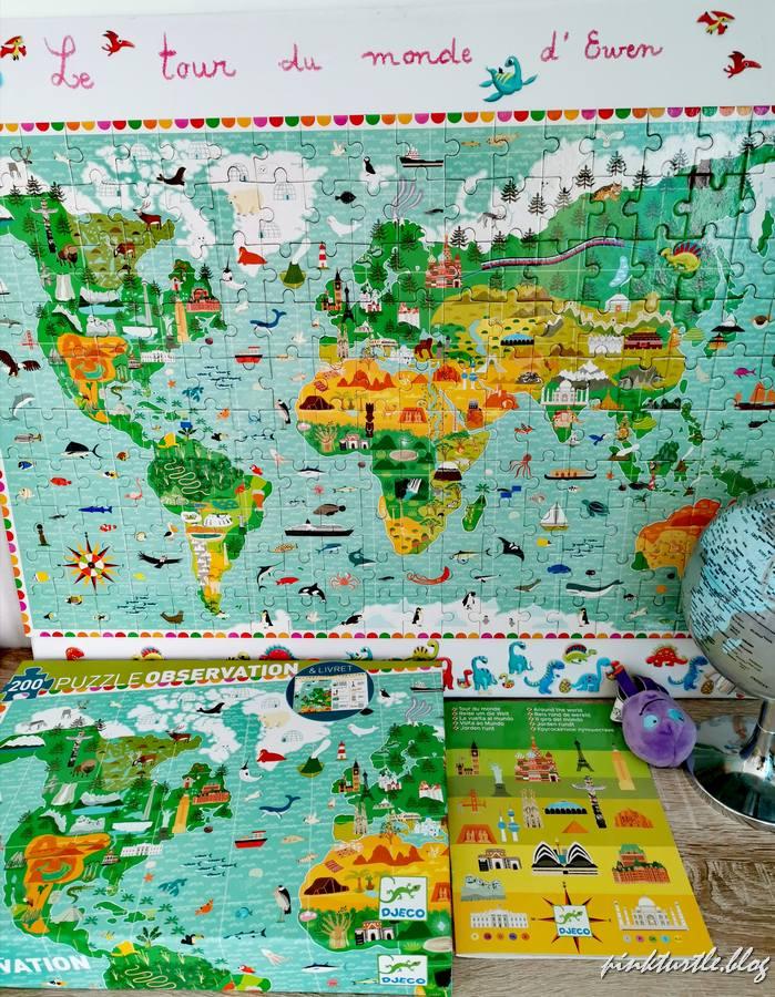 """Puzzle """"tour du monde"""" @pink.turtle.blog"""